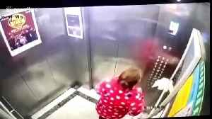 Chinese woman arrested after deliberately spitting on lift buttons during coronavirus lockdown [Video]