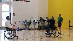 Duke of Cambridge plays wheelchair basketball [Video]