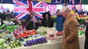 Prince of Wales and Duchess of Cornwall visit market [Video]