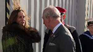 Prince of Wales visits weaving factory [Video]