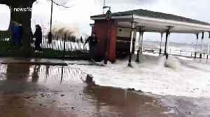 Parts of Merseyside under water as flood warnings issued after Storm Ciara [Video]