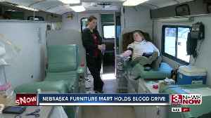American Red Cross holds blood drive at Nebraska Furniture Mart [Video]