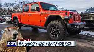 Jeep Gladiator featured in Super Bowl commercial returns to dealer in Caro [Video]