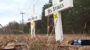 Family places crosses to remember two college students killed in crash [Video]