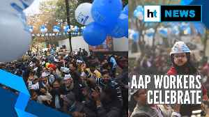 Delhi poll results: Trends show majority for AAP, cadres celebrate [Video]