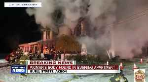 One woman is dead following a late night fire in Akron [Video]