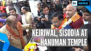 Watch: Arvind Kejriwal, Manish Sisodia visit Hanuman Temple after Delhi win [Video]