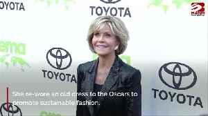 Jane Fonda recycles dress for Oscars [Video]