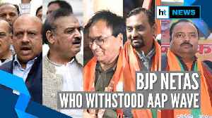 AAP sweeps Delhi: Meet the 8 BJP candidates who defied Kejriwal wave & won [Video]