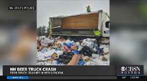 News video: Beer Truck Crashes In New Hampshire