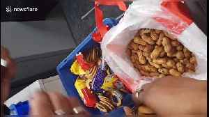 News video: Smuggler caught trying to sneak almost £50,000 out of India in peanuts and biscuit packets