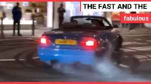 Footage shows a number of expensive cars performing 'doughnuts', leaving tyre marks and speeding [Video]