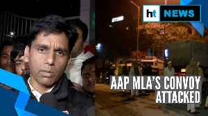 News video: AAP MLA Naresh Yadav's convoy attacked after poll win, one party worker killed