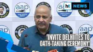 Sisodia hails 'politics of work; Kejriwal to take oath as CM on Feb 16 [Video]