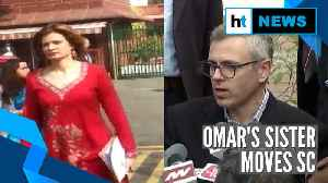 News video: Omar Abdullah's sister moves Supreme Court against his detention under PSA