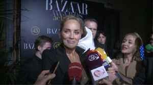 Sharon Stone seeks love advice from Elton John [Video]