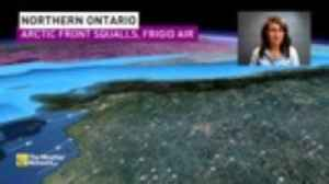 Arctic front brings BURST of snow, reduced visibility to northern Ontario, 20° temperature plunge [Video]