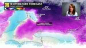 Bursts of snow followed by arctic blast could create slick and dangerous road conditions [Video]