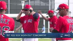Red Sox host first workout [Video]