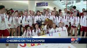 Brother Martin Cheer Squad welcomed back home after winning big at 2020 national championships [Video]