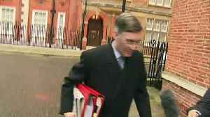 Rees-Mogg talks about the weather as he leaves home [Video]