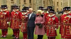 Prince Charles and Camilla visit the Tower of London [Video]