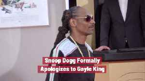 Snoop Dogg Says Sorry [Video]