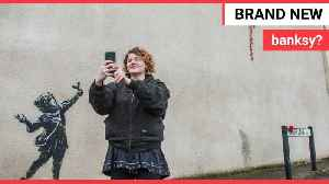 News video: Valentine's Day-inspired street art apparently created by Banksy appears in Bristol