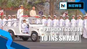President Kovind presents 'President's Colour' to INS Shivaji [Video]