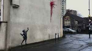 Suspected new Banksy street art pops up in Bristol ahead of Valentine's Day [Video]