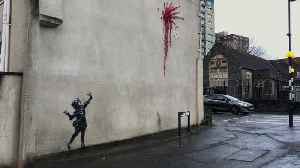 News video: A new piece of Valentine's Day-inspired street art apparently created by Banksy has appeared in his home city of Bristol