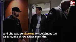 Salma Hayek threw water at Eminem [Video]