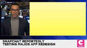 News video: Snapchat Is Testing a Major New Redesign