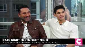 News video: Boxing Legend Oscar De La Hoya Pumps Up Garcia's 'Date' Night Fight