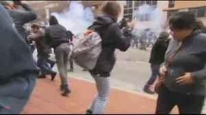 Las protestas fueron dispersadas con gases [Video]
