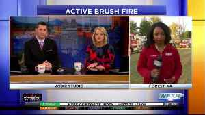 LIVE REPORT: The latest on a brush fire in Forest [Video]