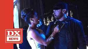 Salma Hayek Calls Eminem 'The Greatest' After Spilling Water On Him [Video]