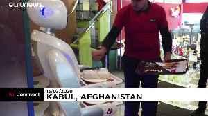 Meet Timea, Afghanistan's first robot waitress