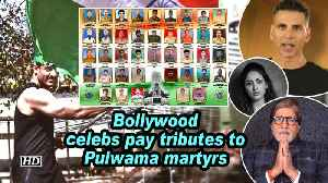 Bollywood celebs pay tributes to Pulwama martyrs [Video]