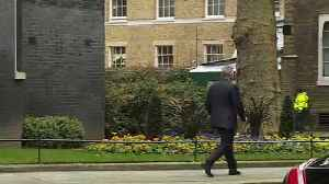 News video: Cabinet ministers depart Downing Street after first meeting