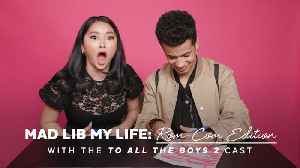 Lana Condor and Jordan Fisher Filled Out a Mad Libs Love Letter, and P.S. It's Adorable [Video]