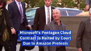 Microsoft's Pentagon Cloud Contract Is Halted by Court Due to Amazon Protests [Video]