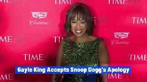 Gayle King Accepts Snoop Dogg's Apology [Video]