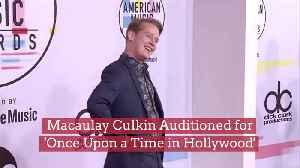 Macaulay Culkin Wants Bigger Roles [Video]