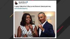 Barack, Michelle Obama Post Valentine's Day Messages [Video]