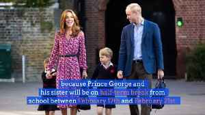 Duke and Duchess of Cambridge Take a Break From Royal Work [Video]