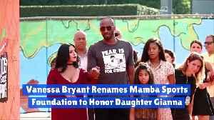 Vanessa Bryant Renames Mamba Sports Foundation to Honor Daughter Gianna [Video]