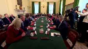 British PM Johnson welcomes new cabinet after reshuffle [Video]