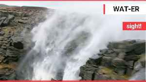 Peak District waterfall appeared to flow BACKWARDS during Storm Ciara [Video]