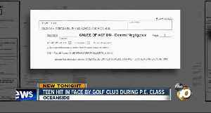 Teen hit in face by golf club during P.E. class [Video]